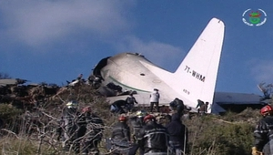 The plane crashed in a mountainous area in the Oum El Bouaghi region