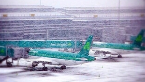 A dusting of snow at Dublin Airport (Pic: @DublinAirport)