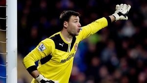 David Marshall produced a stunning injury time save to earn Cardiff a point
