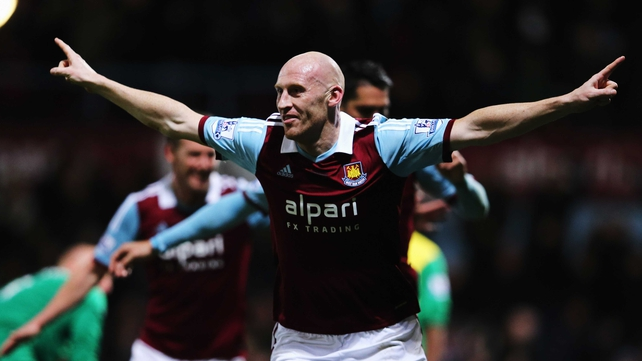 James Collins opened the scoring for the Irons