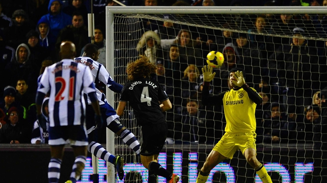 Victor Anichebe heads home West Brom's equaliser