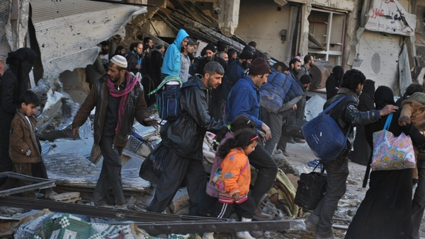 More than 1,100 people have left Homs during the truce