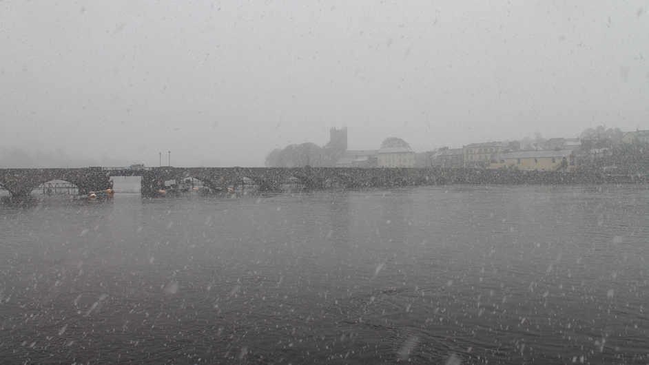 Bleak conditions in Ballina (Pic: Niamh Quinn)