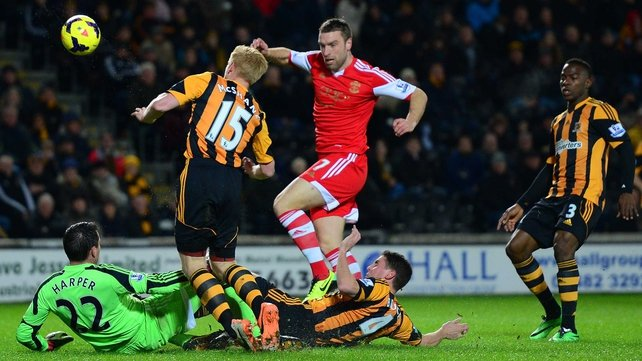 Paul McShane only lasted 12 minutes of Hull's defeat to Southampton