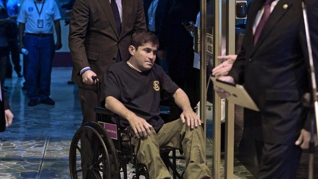 Jose Salvador Alvarenga was too weak to speak at the airport
