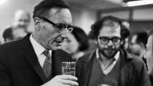 William Burroughs, pictured with fellow Beat writer, the poet Allen Ginsberg. (Ginsberg was played by Daniel Radcliffe in the recent indie movie, Kill Your Darlings, Burroughs by Ben Foster.