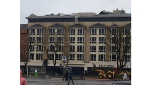 The Brandon Hotel in Tralee has been damaged in the storm (Pic: @danieldos86)