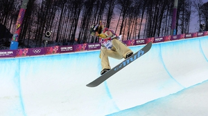 Kaitlyn Farrington claimed gold in the womens' halfpipe
