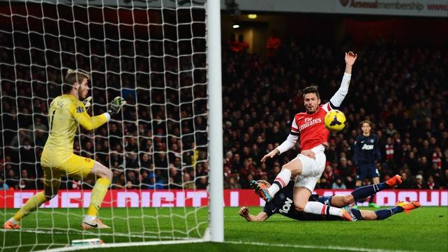 Olivier Giroud spurned Arsenal's best chances