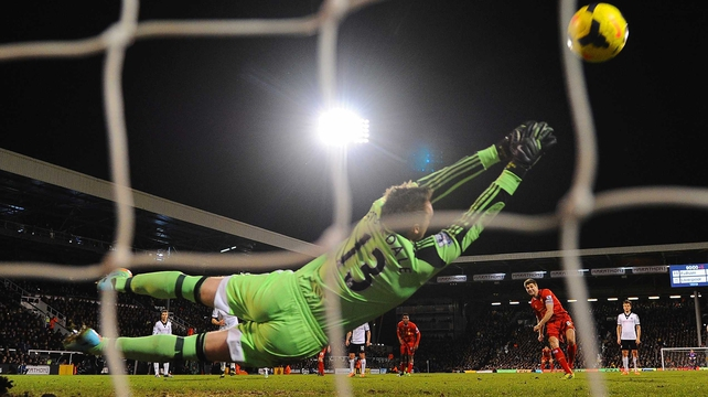 Steven Gerrard fires the winner from the penalty spot