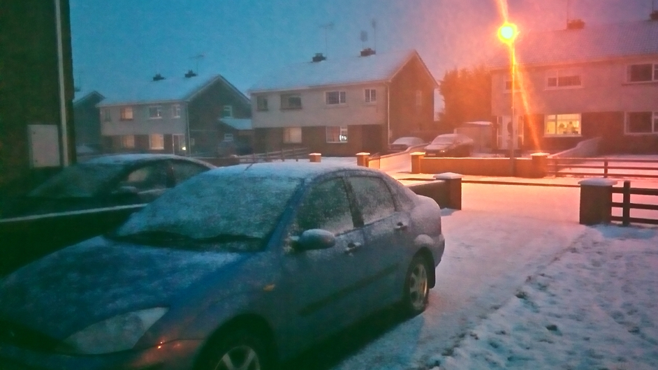 Snow in Tullamore (Pic: Billy O'Meara)