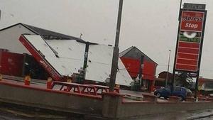 O'Rourke's Cross filling station on the N20 near Charleville (Pic: Dan Rea)