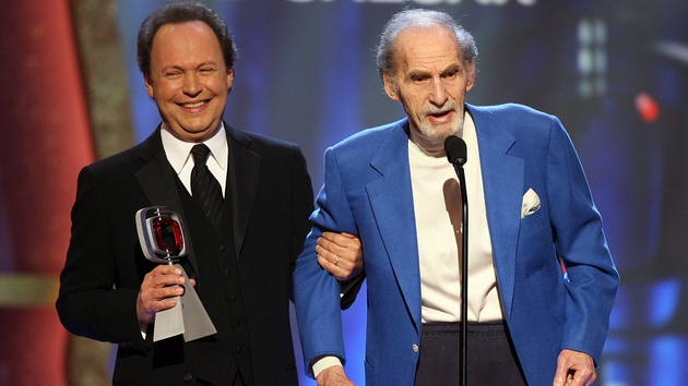 Billy Crystal presenting the Pioneer Award to Sid Caesar at the 2006 TV Land Awards