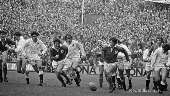 Ireland vs England international rugby match, Lansdowne Road, 1975, © RTÉ Archives 2071/010