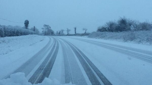Snowy conditions on the Mitchelstown to Fermoy road (Pic: Bríd Dunne)