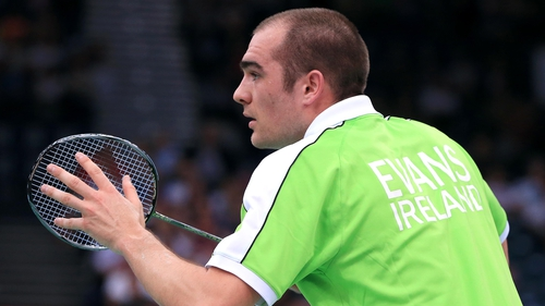 Irish number one Scott Evans
