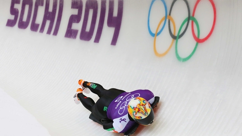 Sean Greenwood of Ireland pictured at the Sanki Sliding Center