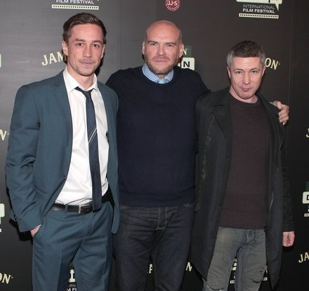 Killian Scott, John Michael McDonagh and Aidan Gillen