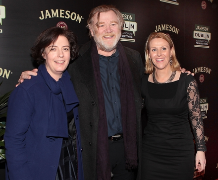 JDIFF Director Gráinne Humphreys, Brendan Gleeson and Jackie Ryan