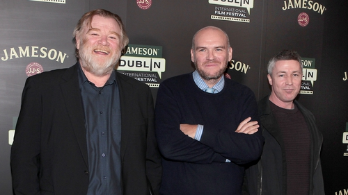 Brendan Gleeson, John Michael McDonagh and Aidan Gillen at Calvary's Irish premiere at the Savoy Cinema