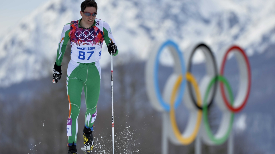 Ireland's Jan Rossiter in action during the 15km cross-country ski race in Sochi
