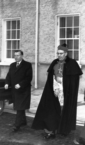 Archbishop Morris and Minister Haughey make their way to the stage (Pic: An Garda Síochána)