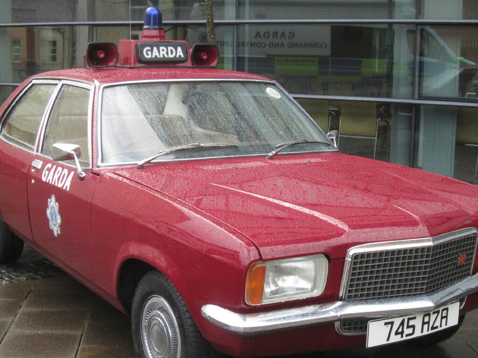 A vintage squad car on display at the commemoration at the Garda Training College (Pic: An Garda Síochána)