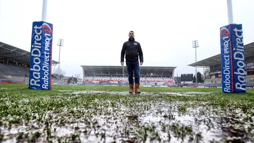The Ravenhill pitch was declared unplayable
