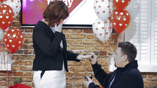 Gary proposes to Sharon live on Today!