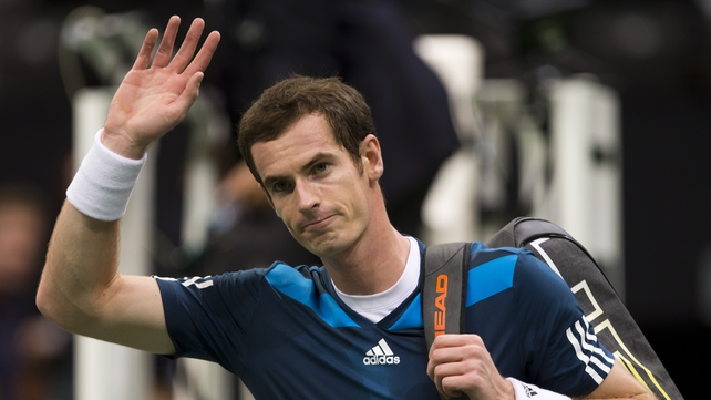 Andy Murray had won the first set, but could not ultimately take the tie