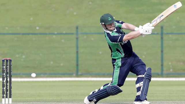 Paul Stirling achieved Ireland's highest score with 44