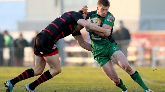 Edinburgh's Dougie Fife tackles Eoin Griffin of Connacht