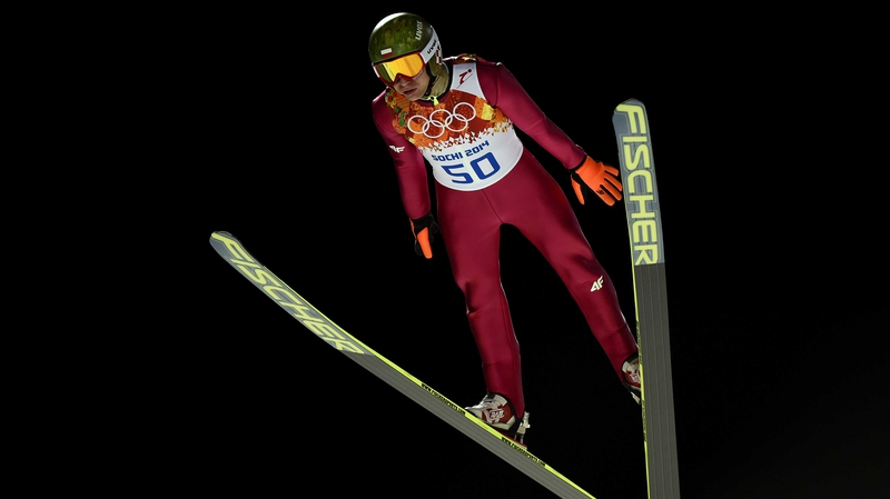 Kamil Stoch of Poland wins large hill ski jumping gold