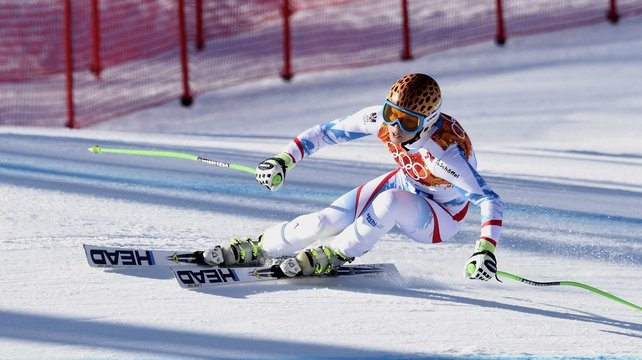 Anna Fenninger wins the gold medal in the ladies' super-G at the 2014 Winter Olympics