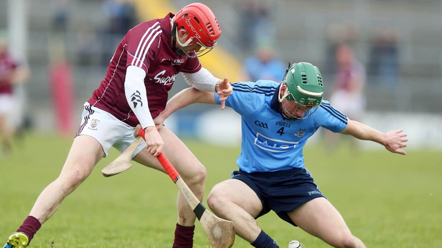 Niall Healy of Galway and Simon Timlin of Dublin
