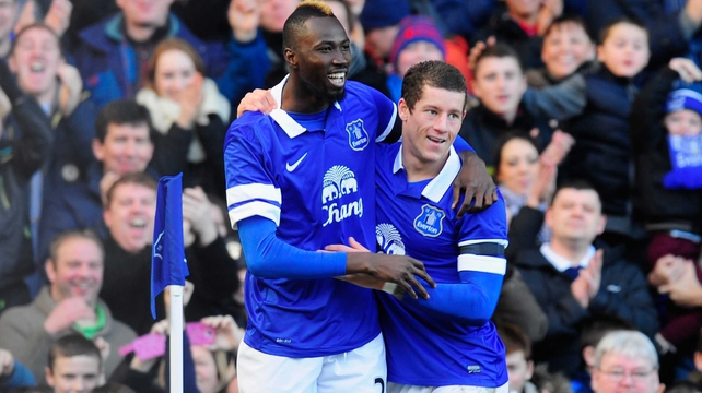 Lacina Traore scored four minutes into his Everton debut