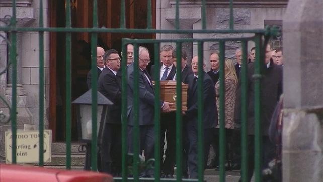 The funeral service took place this afternoon at Loughrea's St Brendan's Cathedral