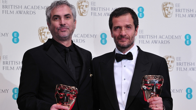Gravity director Alfonso Cuarón and producer David Heyman - Film won six awards