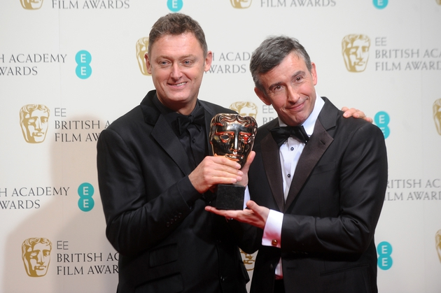 Jeff Pope and Steve Coogan with their Best Adapted Screenplay BAFTA