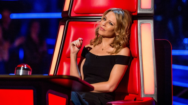 Kylie is currently a couch on the UK version of The Voice