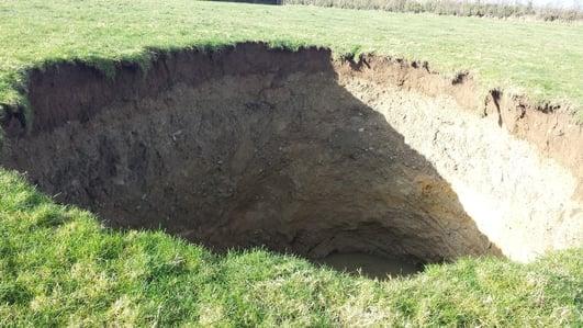 Sinkhole in Kilkenny