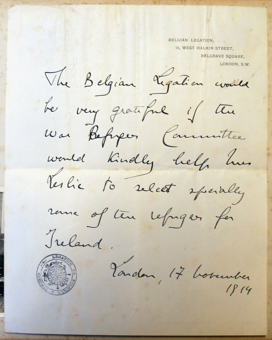 Councils around Britain and Ireland were called upon to accommodate the exodus of refugees from Belgium (Pic: Castle Leslie Archives)