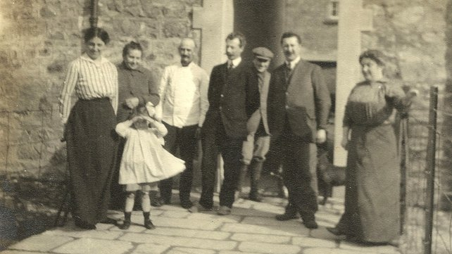 Belgian refugees in Monaghan town