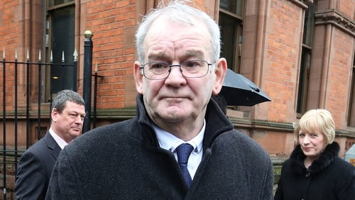 Alan Black, pictured at today's hearing, was shot 18 times