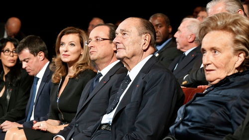 Mr Chirac pictured with French President Francois Hollande