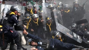 Several police officers were injured in the clashes