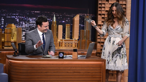 Fallon joined by a host of famous faces, including Sarah Jessica Parker