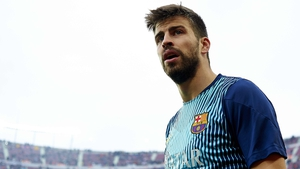 Gerard Pique and Barcelona visit Manchester tonight