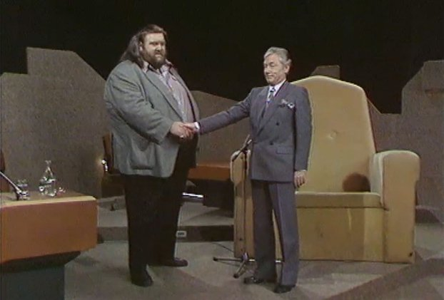 Giant Haystacks and Gay Byrne