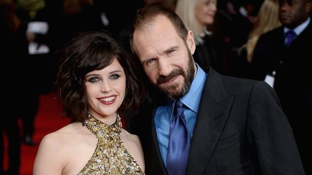 Ralph Fiennes and Felicity Jones